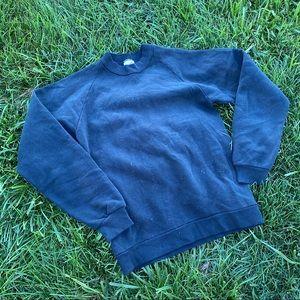 Vtg jerzees black sweatshirt USA sm